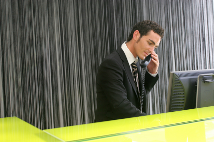 Hotel phone system for the front desk